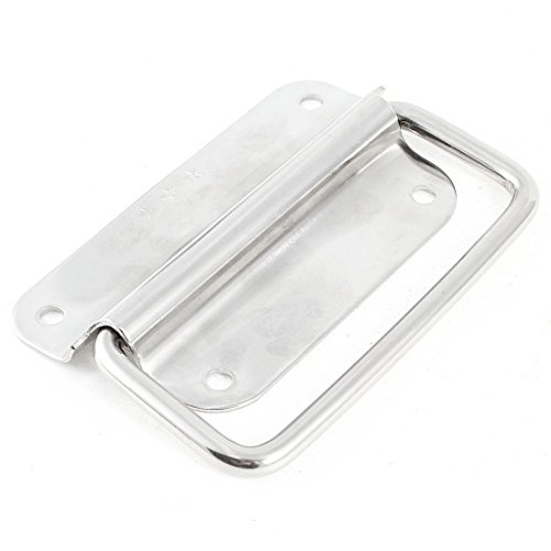 Silver Tone 90 Degree Design Cupboard Drawer Door Chest Pull Handle - 1