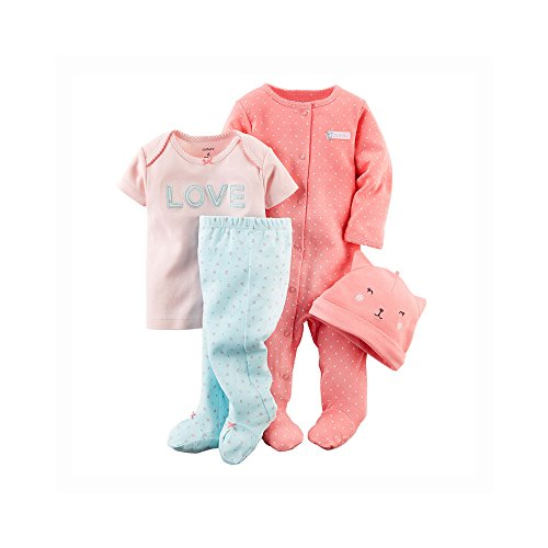 Carter's Baby Girls' 4 Piece Layette Set (Baby) - Kitty - 3M