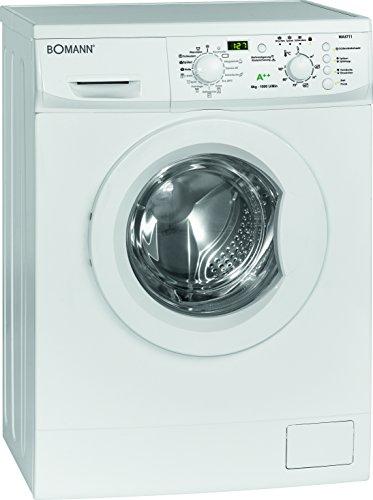 Bomann WA 5711 Waschmaschine FL / A++ / 170 kWh/Jahr / 1000 UpM / 6 kg / 7260 L/Jahr / 15 Programme / Elektronische Programmsteuerung / weiß