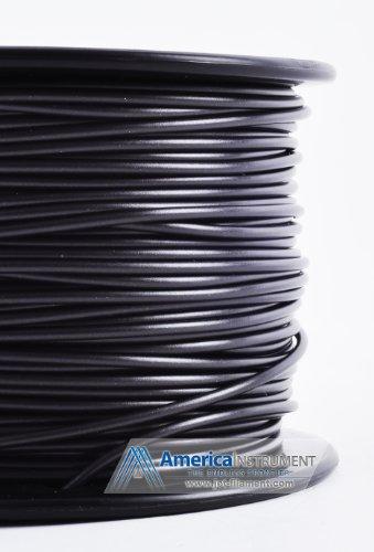 Jet - HIPS Filament 1kg (=2.2 lbs) on Spool for 3D Printer Makerbot, Reprap, Makergear, Ultimaker, Up!, etc. - USA (1.75mm, Black)