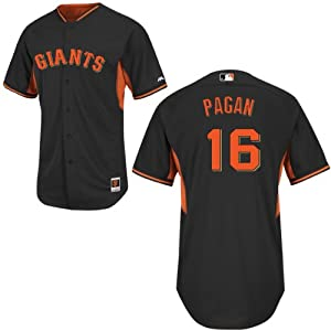 Angel Pagan San Francisco Giants Black Batting Practice Jersey by Majestic by Majestic