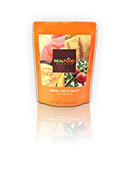 Real Food Blends Salmon, Oats & Squash Pureed Blended Meal, 9.4 Oz Package (Pack of 12)