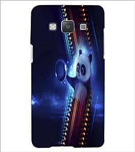 PrintDhaba Panda D-4994 Back Case Cover for SAMSUNG GALAXY E5 (Multi-Coloured)