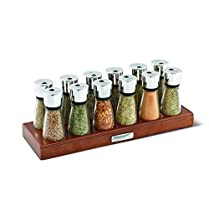 Cole & Mason Croft 12-Jar Filled Herb and Spice Rack - Transparent
