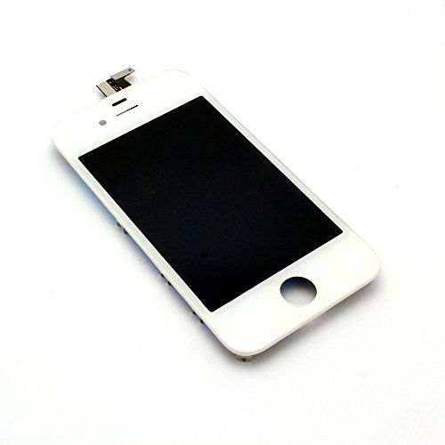 NEW iPhone 4 GSM Original LCD Screen Display with Digitizer Touch Panel (White) OEM Replacement Part- Ships from USA (Iphone 4 Front White compare prices)
