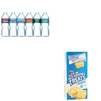 kitkeb26547nle101243-value-kit-kelloggs-rice-krispies-treats-keb26547-and-nestle-bottled-spring-wate