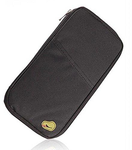Purchase PASSPORT CREDIT ID CARD HOLDER CASH ORGANIZER POUCH TRAVEL BAG WALLET BLACK