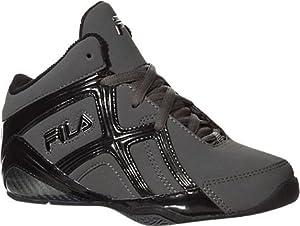 Fila Revenge 2 Basketball Shoe (Little Kid/Big Kid), Pewter/Black/Metallic Silver, 5.5 M US Big Kid