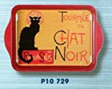 French Classics Chat Noir Small Metal Tray
