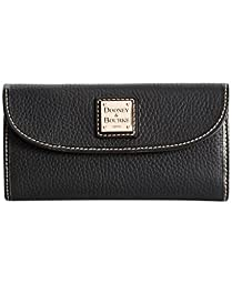 Dooney & Bourke Pebble Continental Clutch  Black/Black
