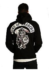 Sons of Anarchy Top Rocker Patch Full Fleece Mens Hoodie Jacket