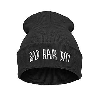 Beanie Hats - Bonnet -  Femme Noir ---bad hair day black
