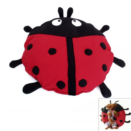 Ladybug Beetle Shape Pet Cat Dog Bed Crate Cage Pad Mat Cushion front-487791