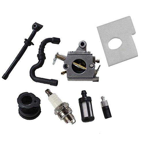 HIPA Caruretor Fuel line Filter Intake Manifold Boot Spark Plug for STIHL 017 018 MS170 MS180 Chainsaw (Stihl Chainsaw Carburetor 018 compare prices)