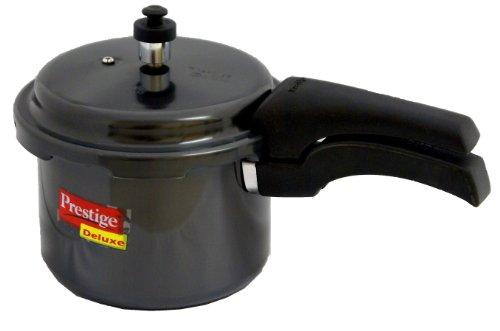 Prestige PRHA3 Deluxe Hard Anodized Pressure Cooker, 3-Liter, Black