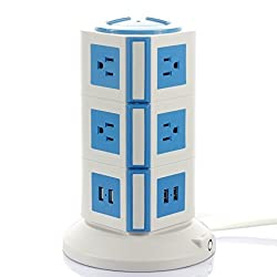 Umirro 8-outlet Surge Protector & 8-port Universal USB Charging Station w/ Surge & Overload Protection for All Electronic Devices Including: Iphone, Ipad, Android Devices, Samsung, ETL Approved