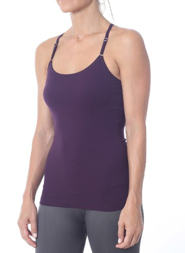 Nux Women'S Focus T-Back Cami Top, Eggplant, Medium front-954289