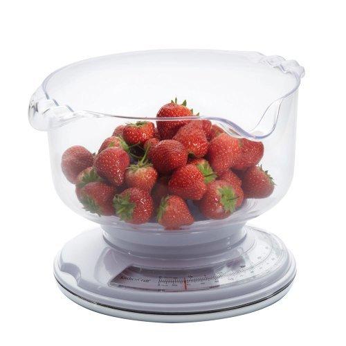 Kitchen Craft Balance de cuisine mécanique avec bol Fonction ajouter et peser 3 kg