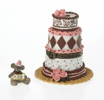 Boyds Bears Birthday Girl's Celebration Cake with Icing McNibble (Boyds Resin Figures compare prices)