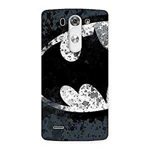 At Dust Grey Black Back Case Cover for LG G3 Beat