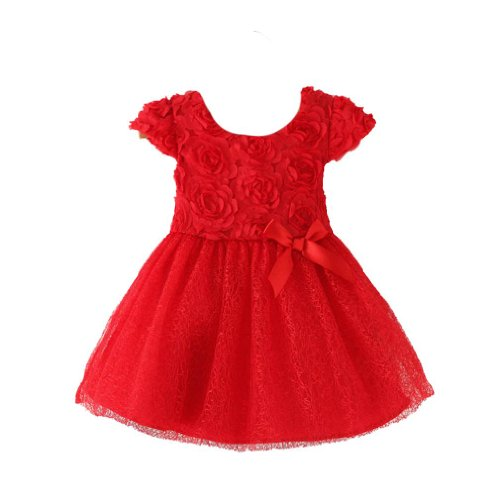 [Baby Tree]Baby Girls, Red Princess Dress. D5003(12)