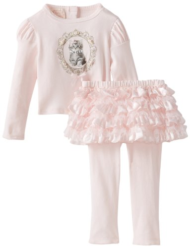 For Sale Biscotti Baby-Girls Infant Meow Meow Long Sleeve Top and Tutu Legging, Pink, 18 Months  Review