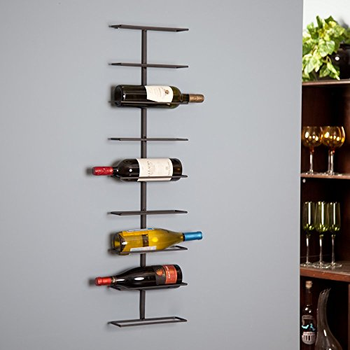 Wall-Mounted Wine Rack, 9-Bottle Capacity, Black (9 Wine Rack compare prices)