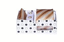 ELLIS Men's Tie,Pocket Square & Cufflink With Polka Dots Box