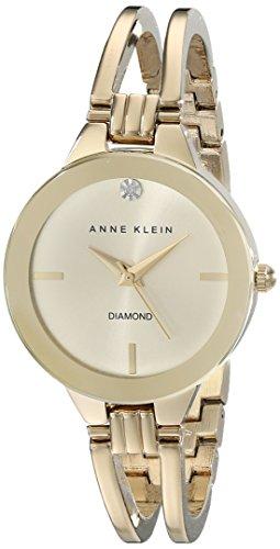 anne-klein-damen-ak-1942chgb-diamond-accented-zifferblatt-goldfarbene-armreif-armbanduhr