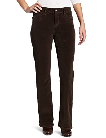 NYDJ Women's Barbara Modern Boot Leg Corduroy Pant, Earth Green, 18