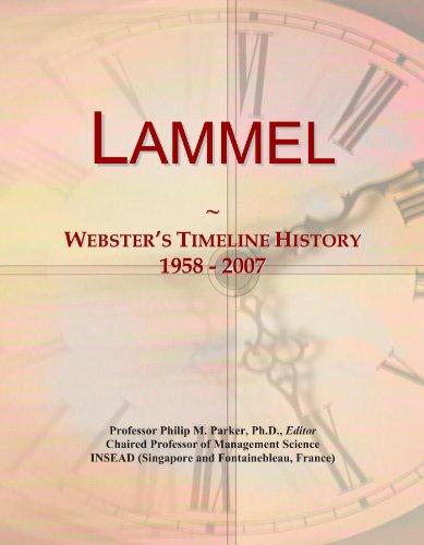 Lammel: Webster's Timeline History, 1958 - 2007