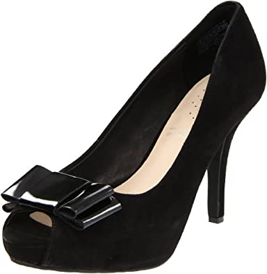 乐步Rockport Women's Sasha Open-Toe Pump女士高跟鱼嘴鞋$74.18Black Kid Suede