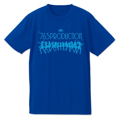 THE IDOLM@STER プラチナスターズ765PRO ドライTシャツ コバルトブルー Mサイズ