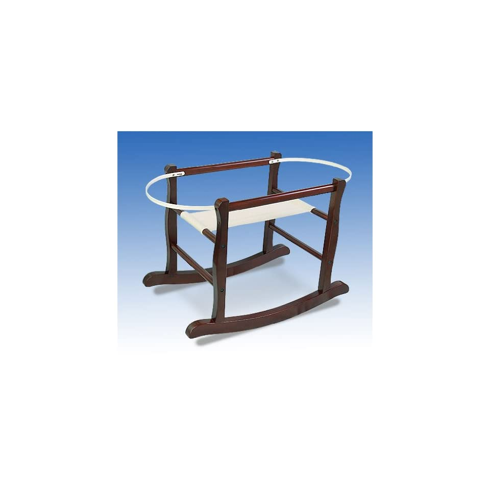 Rocking Moses Basket Stand Jolly Jumper Java or White