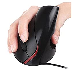 Nicequip TM Wired vertical mouse Superior Ergonomic Design mice 5 Buttons optical usb health mouse for Alleviate Wrist Fatigue Vertical Mouse Optical Mouse Mice Ergonomic Design Gaming Mouse