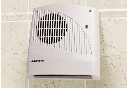Dimplex Small Bathroom Wall Mounted Fan Heater 2KW