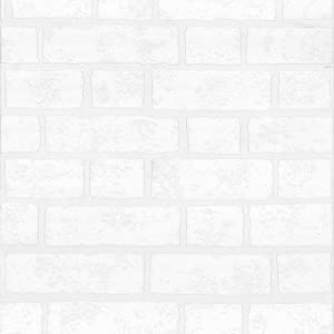 I Love Wallpaper Paintable White Brick Effect Wallpaper - - Amazon.com