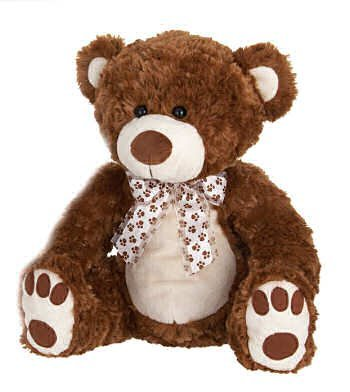 Brown Bean Bag Sitting Paw Bear 14