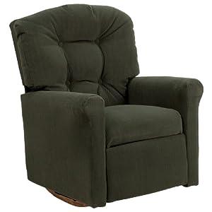 Flash Furniture Kids Microfiber Rocker Recliner, Olive