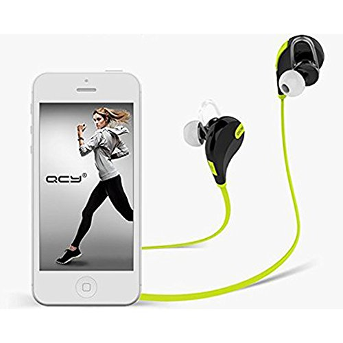 Qy7 イヤホンBluetooth 4.1スポーツヘッドセット スポーツイヤホン ヘッドホン ワイヤレスステレオヘッドセットイヤホン 内蔵マイク ハンズフリー通話 ランニング/ジョギング適用 Apple iphone 6 6 Plus 5 5c 5s 4s 4 ipad ipod Touch Samsung Galaxy S6 S5 S4 S3 Note 4 3 2 Nexus 4 5 6 Sony Xperia Z3 Z4 LG ASUS HTC One などのAndroidスマートフォン PC タブレットなどの ブルートゥースデバイス対応ミニ型 超軽量【5色選択】ブラック&グリーン