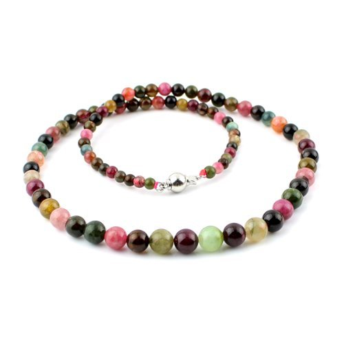 O-stone Natural 2A Tourmaline Paradise Necklace Family Beads Collection Bracelet 3-8mm48cm Bracelet Grounding Stone Protection Very Precious Gemstone