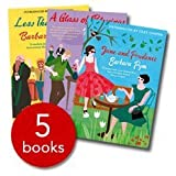 Barbara Pym Collection - 5 Books - 'An Academic Question', 'Less than Angels', 'Jane and Prudence', 'Some Tame Gazelle', 'A Glass of Blessings'.