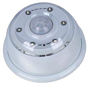 niceeshop(TM) LED Luz Redonda Infrarrojos de Noche Sensor Automático Detector Movimiento para Pasillo Cocina Baño( Blanca, Luz Blanca Pura) de niceeshop