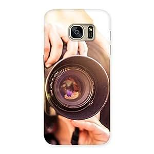 Premier Camera Multicolor Back Case Cover for Galaxy S7