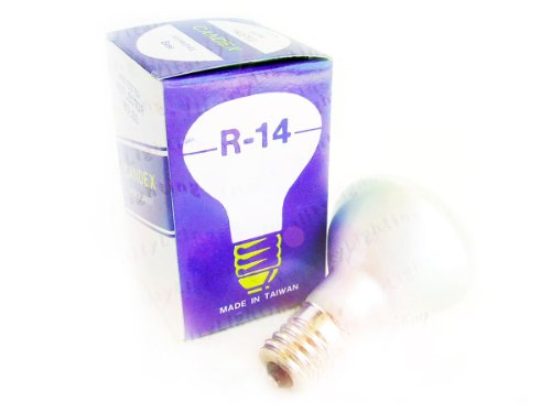 R14 40W E17 Frosted Reflector Flood Light Bulb Intermediate Base 120V (12/Pack)