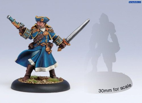 Cygnar Arcane Tempest Gun Mage Officer Warmachine - 1