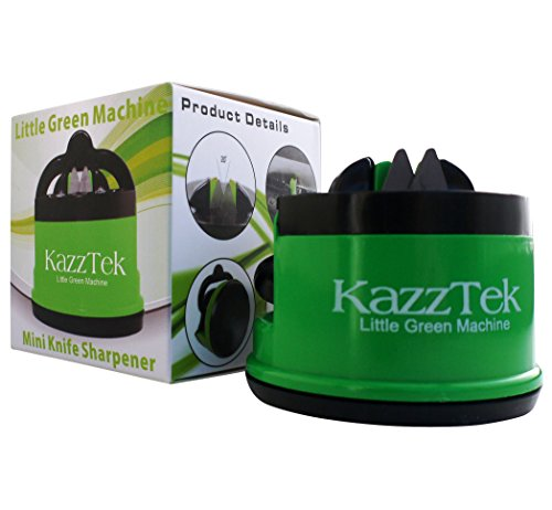 Lowest Price! Knife Sharpener by KazzTek - Best Blade Sharpening System for Knives and Scissors - Su...