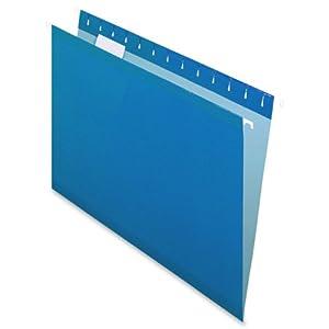 Pendaflex Blue 1/5-Tab Hanging Folder  25 Pack 4152 1/5 BLU