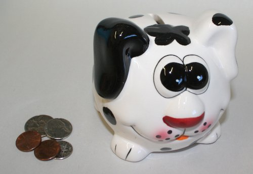 Ceramic Colorful Dalmation Bank