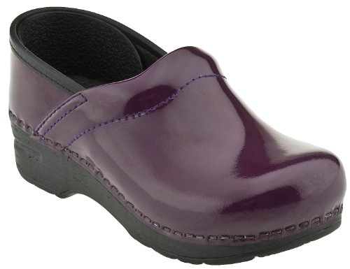 Dansko Gitte Patent Clog (Toddler/Little Kid/Big Kid),Purple Patent Leather,26 Eu (8.5-9 M Us Toddler) front-981556
